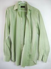 ERTRO Light Green Double Button Collar Classic Dress Shirt – 16.5 x 35.5
