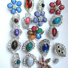 Wholesale & Job lots 10 Stunning Silver Tone Diamante Pin Brooches 4 Coat Hat