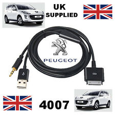 Peugeot 4007 iPhone iPod 3.5mm USB & Aux Cable replacement