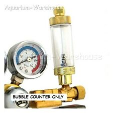 Brass CO2 Bubble Counter Integrated Check Valve for Solenoid Regulator Aquarium