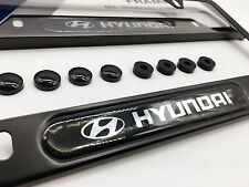 Premium Satin Black License Plate Frame for HYUNDAI Genesis Sonata Accent Tucson