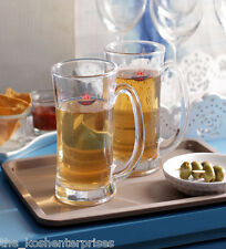 Yujing Aquatic Beer Mug (500 ml, Clear, Pack Of 6)