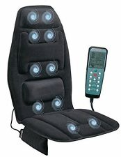Massage Seat Topper Cushion Chair Remote Vibrating Pad Car Back Neck Heat Cover