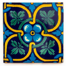"Fairly traded handmade ceramic mexican talavera tile - ""Zacarias's (T12860-25)"