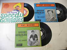 "PAT BOONE""SPEEDY GONZALES- Lotto nr 3 dischi different cover ITALYT"