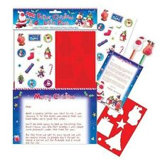 Christmas Letter to Santa Pack + Reply From Santa Stickers Colouring Pencils