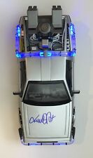 MICHAEL J FOX SIGNED BACK TO THE FUTURE 1/15 SCALE DELOREAN **EXACT PHOTO PROOF*
