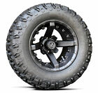 "(4) Fairway Alloys 12"" Battle Golf Cart Car Rim Wheel & 23-9.5-12 Hammer Tires"