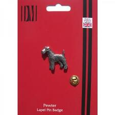 TERRIER DOG Lapel Pin Badge WELSH IRISH AIREDALE OWNER CLUB Birthday Present