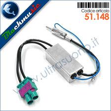Adattatore antenna autoradio doppio FAKRA-DIN per VW Polo 5 (6R 2009-2014)