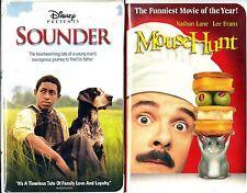 Disney's Sounder (VHS, 2003) & Mouse Hunt; 2 VHS