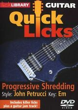 LICK LIBRARY Learn to Play QUICK LICKS JOHN PETRUCCI DREAM THEATER Em GUITAR DVD