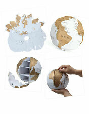 3D Personal World Scratch Globe  - Scratch off Where You Have Been / Visited