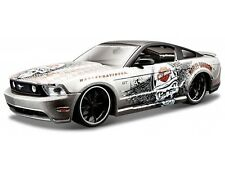 FORD MUSTANG GT 2011 1/24 Die Cast Model Car HARLEY DAVIDSON Metal Models Silver