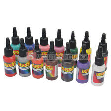 14pz Professionale Inchiostro da 1/2oz 15ml per Tatuaggio Tattoo Ink 14 Colori
