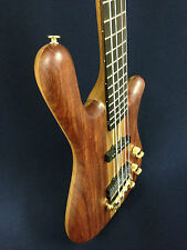 Caraya SPB-3212N 4-String Neck-thru Electric Bass Guitar Natural w/Free gig bag