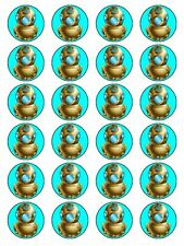 """x24 1.5"""" Retro Deep Sea Diving Novelty Birthday Cupcake Topper On Rice Paper"""