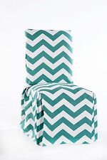 chevron dining chair cover Jade