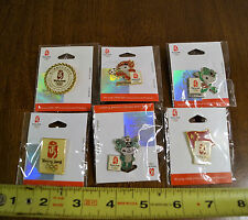 2008 Beijing China Olympic Games Pin Pinback Lot New Rare Official