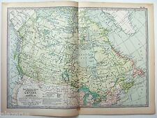 Vintage Original 1902 Map of The Dominion of Canada