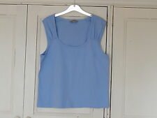 SOUTH LADIES PRETTY LIGHT BLUE TOP SIZE 18 100% COTTON