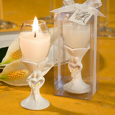 100 Bride and Groom Design Champagne Flute Candle Wedding Bridal Favor Bulk Lot