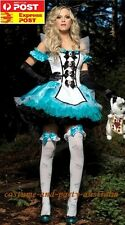 F1285 Fantasy Alice in Wonderland Storybook Fancy Dress Up Adult woman Costume