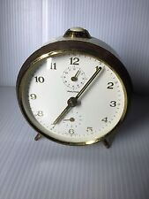 Used German MAUTHE Desk Alarm Clock Ivory