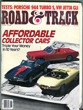 Road & Track Magazine June 1988 Affordable Collector Cars VGEX 012816jhe