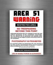 Sticker Calcomanía Pared Auto Moto Area 51 Funny Alienware Alien logotipo Ufo Ovni Roswell