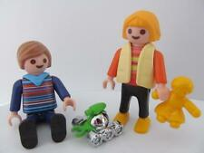 Playmobil Dollshouse/School: Boy & girl children figures with toys NEW