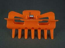 "Orange plastic hair clip claw barrette clamp 3.5"" long jaw teeth buy2get2free"