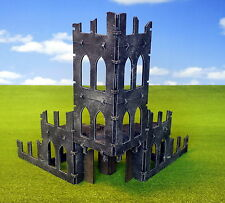 Gothic Ruins Modular Building Terrain Model Kit - 40k Malifaux Infinity MDF
