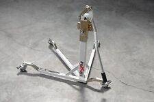 BURSIG Motorcycle Original Center-Lift Stand Paddock Track Garage Olympic White