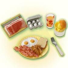 Re-ment  fun meals miniature orange squeezer juice bacon toast Eggs,Etc