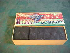 Mid-Century Halsam Magna Double Six Dominoes w/Box-28 Piece Set-#225