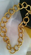 Vintage Statement Givenchy Mark Large Bold Gold Tone Chain Link Necklace Chocker