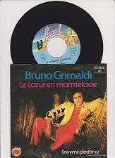 """7"""" Bruno Grimaldi/Le Coeur En Marmelade (D) Promo"""