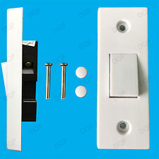 1 Gang 1 Way 10A White Architrave Light Rocker Wall Switch, BS60669-1 Compliant