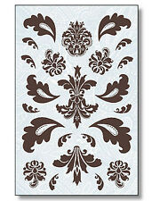 New Paisley Damask Toile Design's Self Adhesive Wallies Deco Decal Stickers Wall