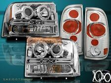2005-2007 FORD F250/350 LED CCFL PROJECTOR CLEAR HEADLIGHTS + ALTEZZA TAIL LIGHT
