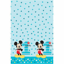 "Disney Mickey Mouse 1st / First Birthday Table Cover *New Design* 54"" x 96"""