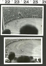 VINTAGE OLD B&W PHOTOS OF A BULL FIGHT IN AN ARENA #3020