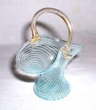Kleines Henkelkörbchen mit Goldflitter Murano Venini Barovier um 1960