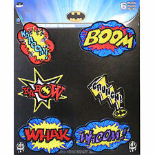 Official DC Comics Batman Arkham Throwback Superhero Action Bursts Iron on Patch