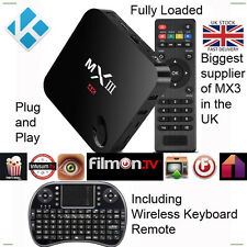 MX3 + Keyboard Android QuadCore  2GB RamTV Box Fully Loaded 2Ghz Wifi 4K