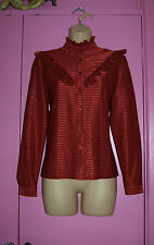 Vintage blouse with frills very OTM UK 14