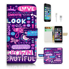 iPhone 7 (4.7') Flip Wallet Case Cover P2497 Girl