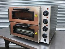 New Infernus Double Deck Electric Pizza Oven Stone Base 16inch 13Amp