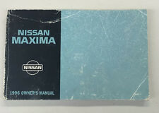 1996 Nissan Maxima Owner's Manual